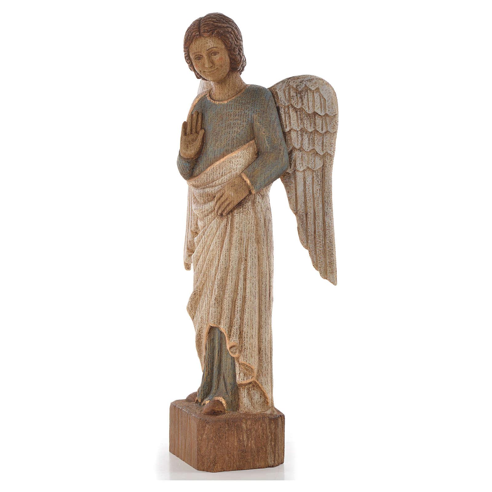 Ange au Sourire de Reims 39 cm bois finition viellie 4