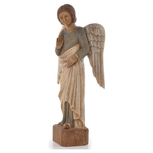 Ange au Sourire de Reims 39 cm legno finitura antica 2