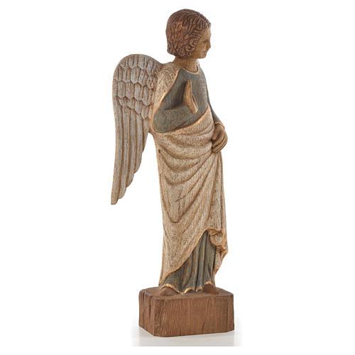 Ange au Sourire de Reims 39 cm legno finitura antica 4