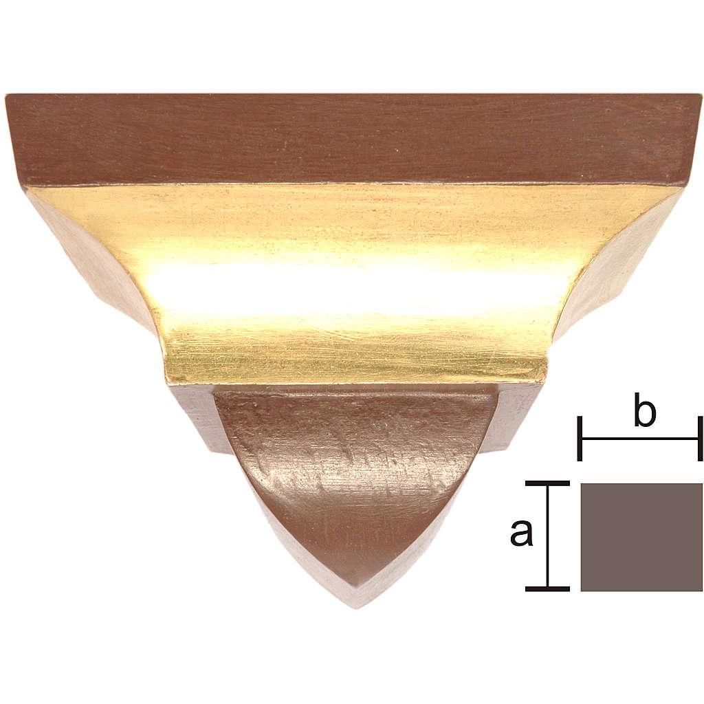 Ménsula pared para imágenes 9x11cm estilo gótico antiguo dorado 4