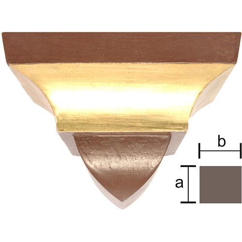 Ménsula pared para imágenes 9x11cm estilo gótico antiguo dorado 1