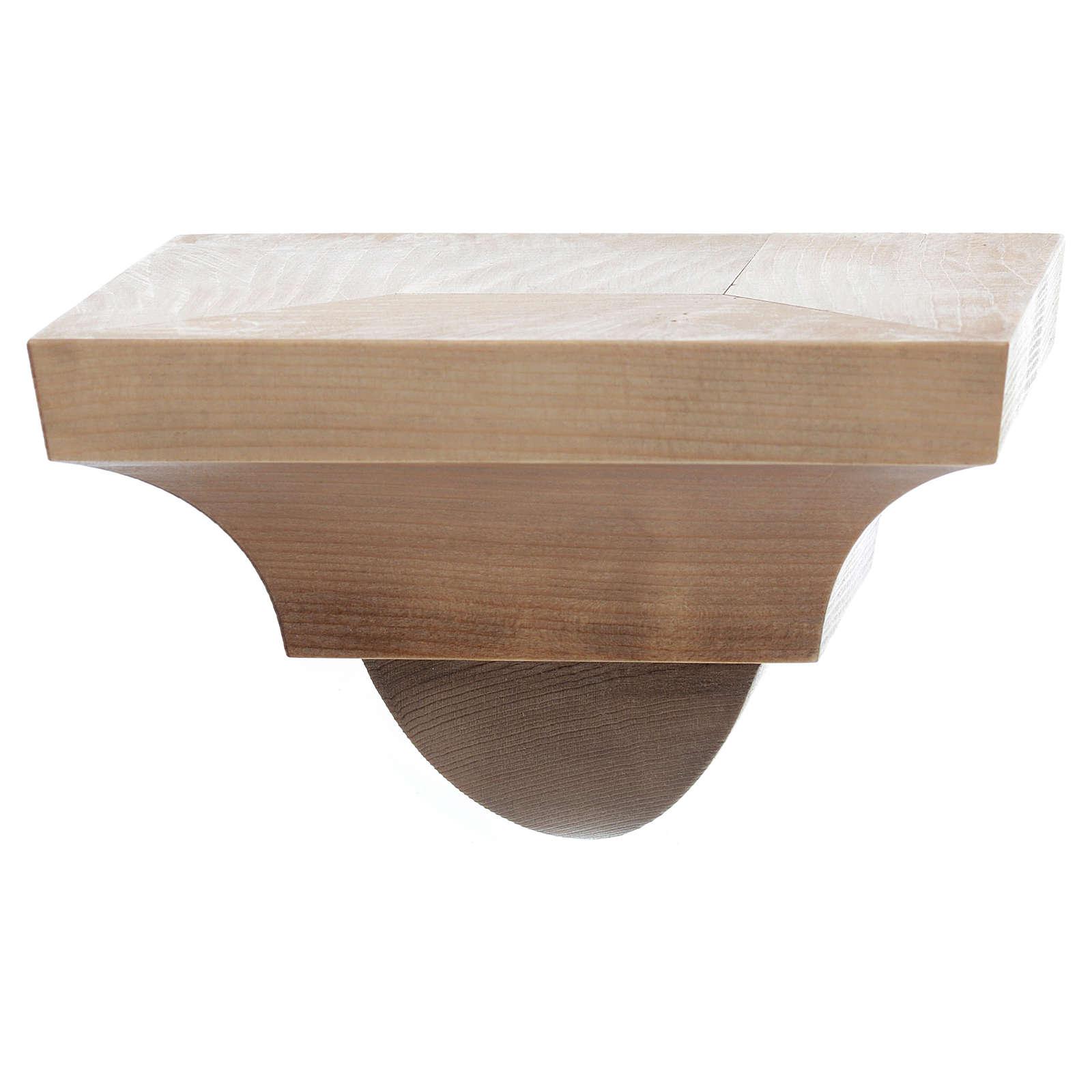Ménsula pared para imágenes de madera 9x11cm varias patinaduras 4