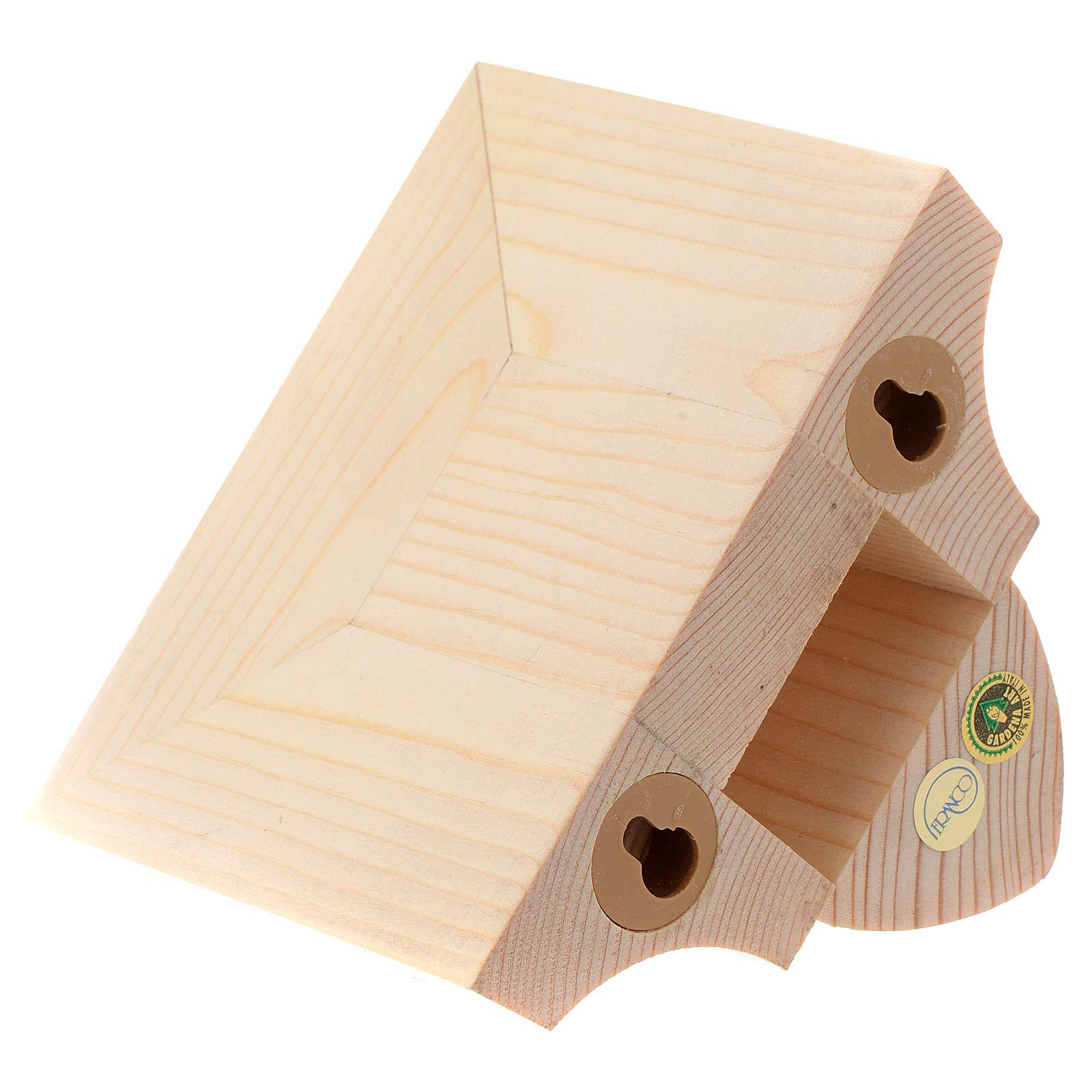 Ménsula pared para imágenes de madera natural encerada 9x11cm 4
