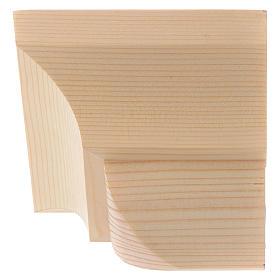 Ménsula pared para imágenes de madera natural encerada 9x11cm s2