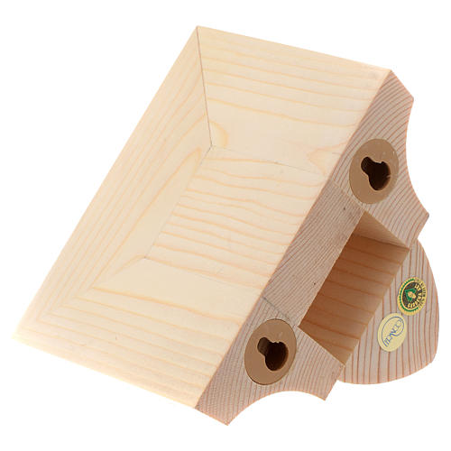 Ménsula pared para imágenes de madera natural encerada 9x11cm 3