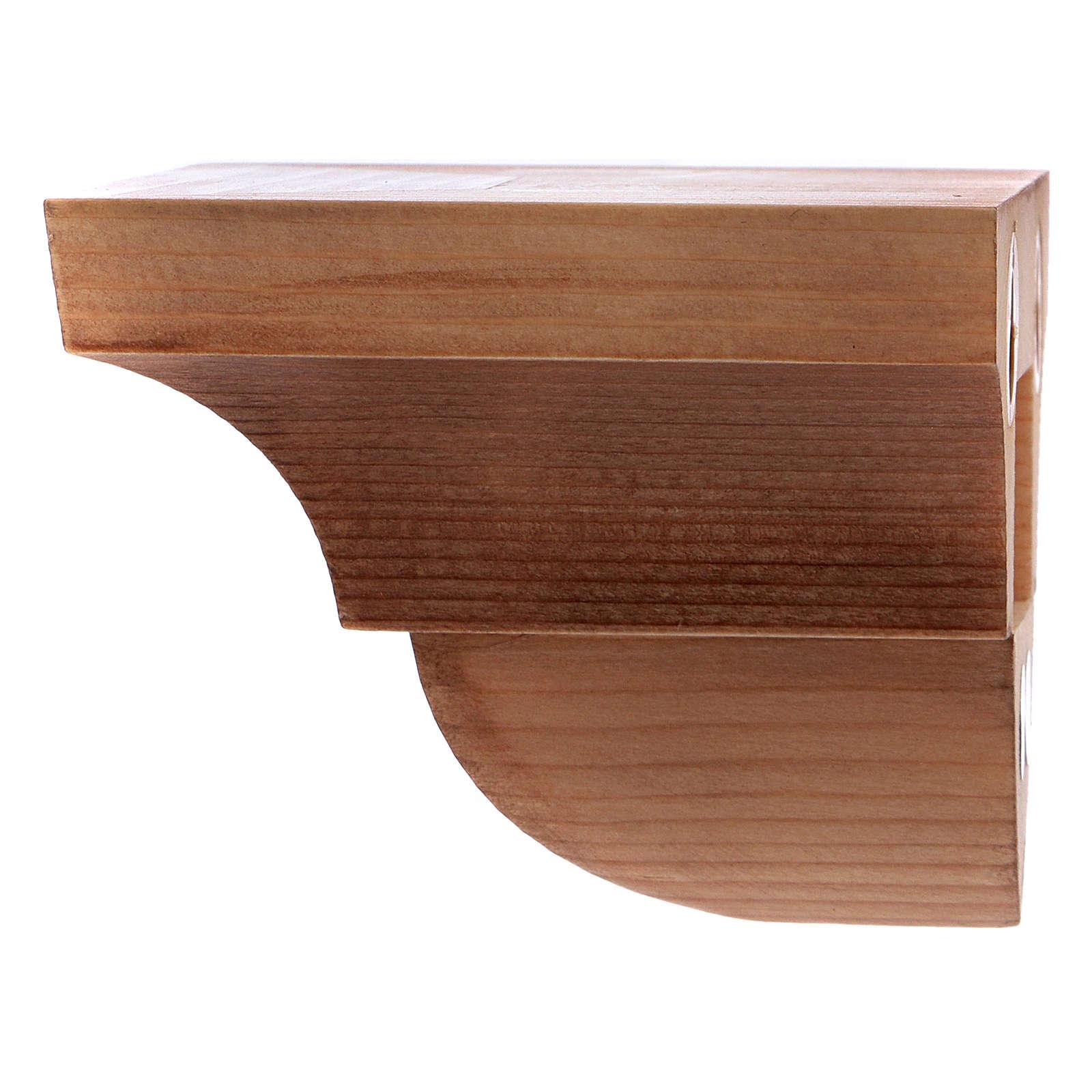 Wandkonsole für Statuen 9x11cm aus Holz patiniert 4