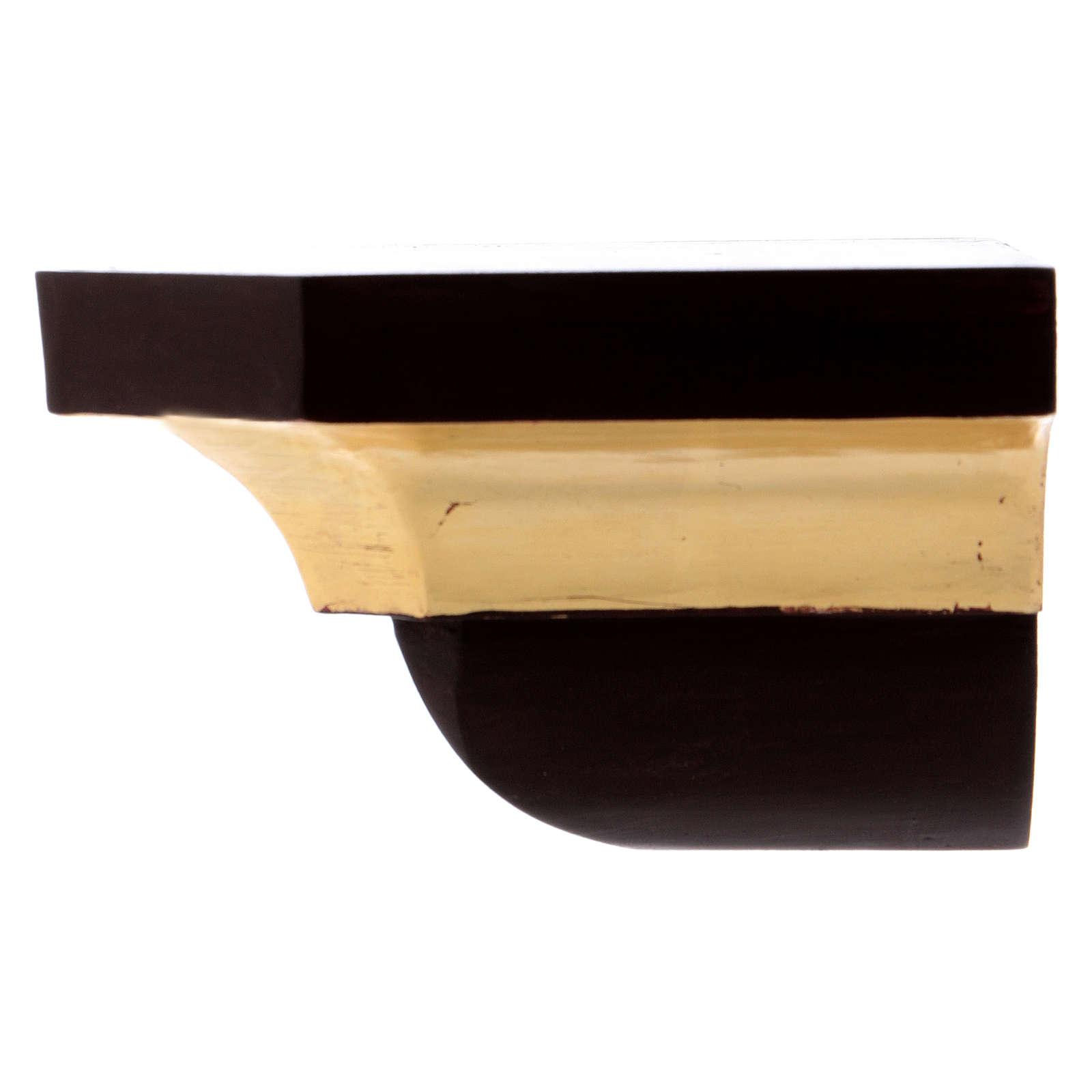 Ménsula estilo gótico 12x14cm antiguo dorado 4