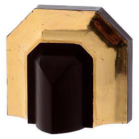 Ménsula estilo gótico 12x14cm antiguo dorado s3