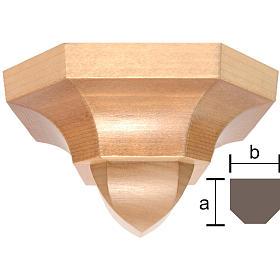 Ménsula estilo gótico 12x14cm varias patinaduras s1