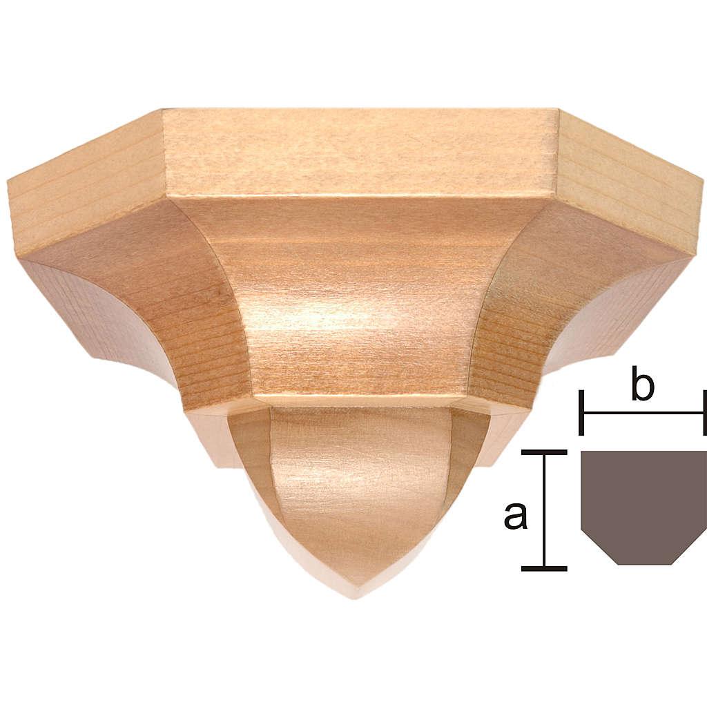 Mensola stile gotico 12x14 legno multipatinato 4
