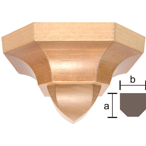 Mensola stile gotico 12x14 legno multipatinato 1