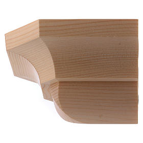 Ménsula estilo gótico de madera natural encerada 12x14cm s2