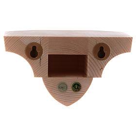 Ménsula estilo gótico de madera natural encerada 12x14cm s3