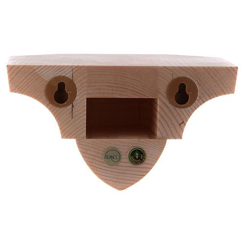 Ménsula estilo gótico de madera natural encerada 12x14cm 3