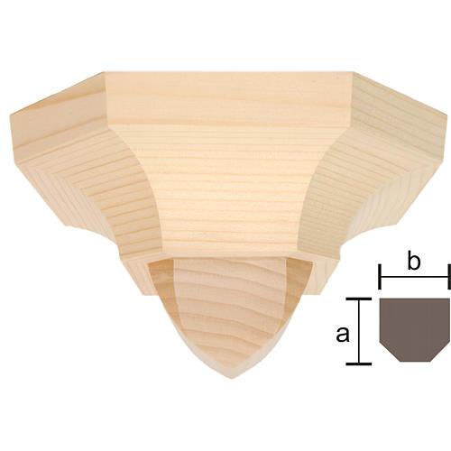 Mensola stile gotico 12x14 naturale cerato 1
