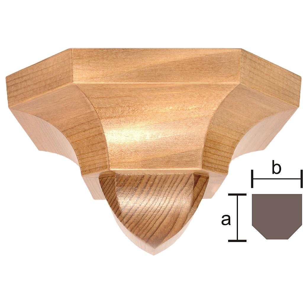 Ménsula pared gótica de madera patinada 12x14cm 4