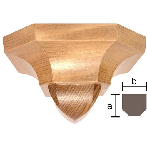 Ménsula pared gótica de madera patinada 12x14cm 1