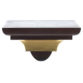 Wall shelf, gothic style in Valgardena wood, old antique gold fi s1