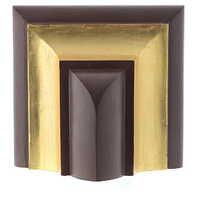 Wall shelf, gothic style in Valgardena wood, old antique gold fi s4