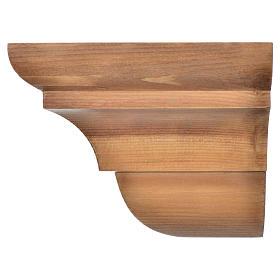 Wall shelf, gothic style in Valgardena wood, patinated finish s3