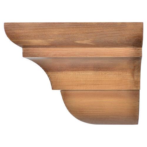 Wall shelf, gothic style in Valgardena wood, patinated finish 3