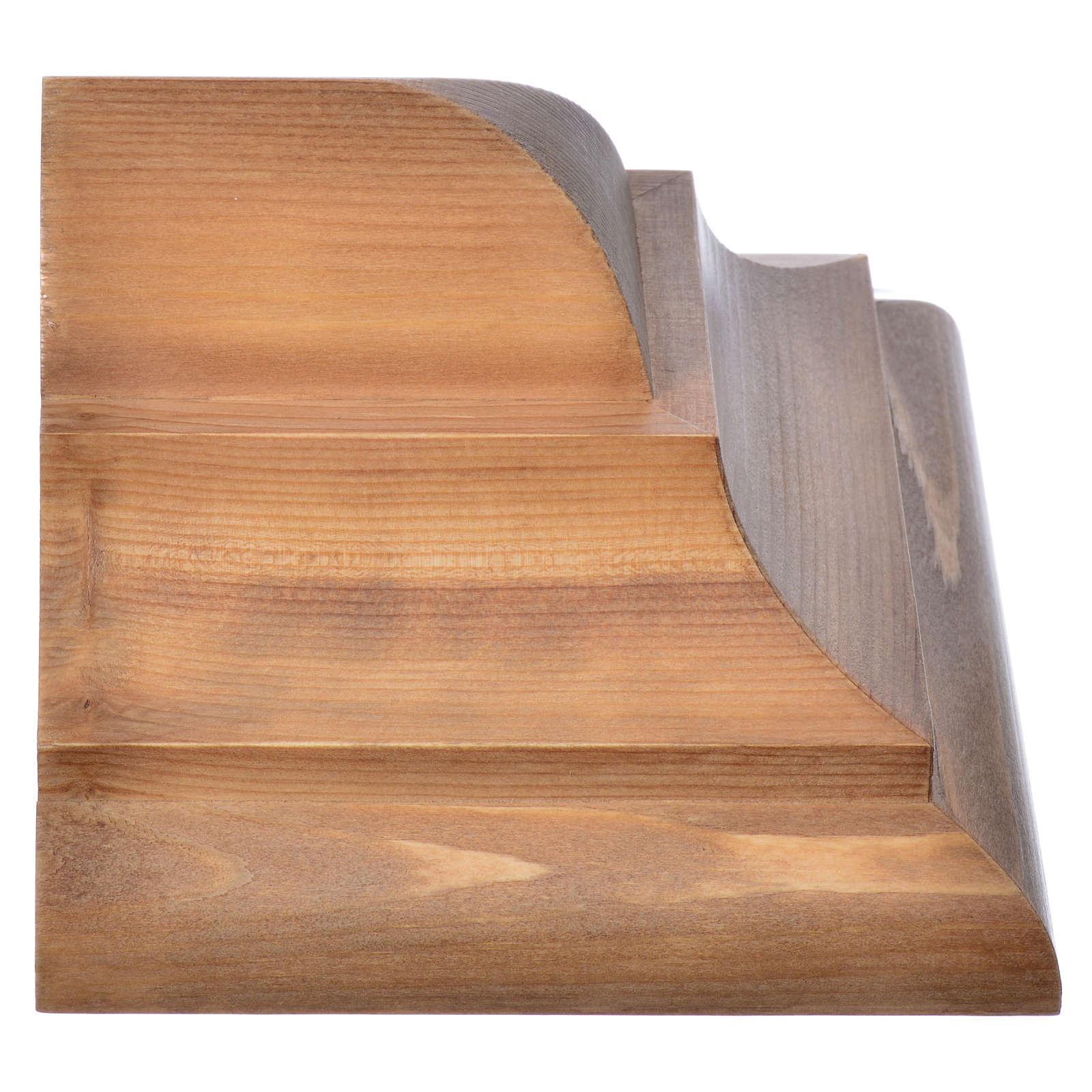 Ménsula pared gótica de madera Valgardena patinada 4