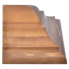 Ménsula pared gótica de madera Valgardena patinada s5