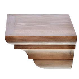 Ménsula pared gótica de madera Valgardena patinada s6