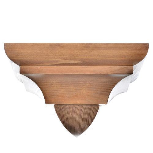 Ménsula pared gótica de madera Valgardena patinada 1