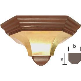 Mensola parete gotica 22x27 legno Antico Gold s1