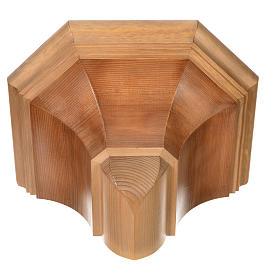 Gotische Wandkonsole 22x27cm aus Holz patiniert s9
