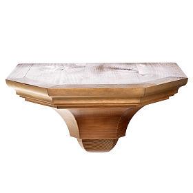 Gotische Wandkonsole 22x27cm aus Holz patiniert s1
