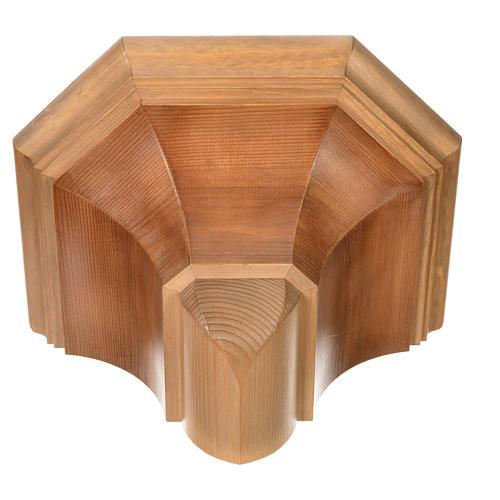 Gotische Wandkonsole 22x27cm aus Holz patiniert 9