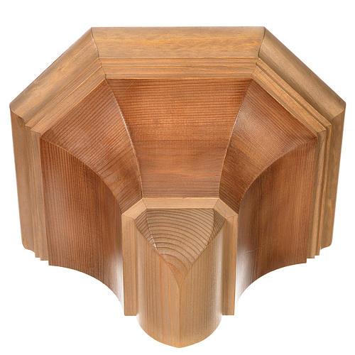 Gotische Wandkonsole 22x27cm aus Holz patiniert 4
