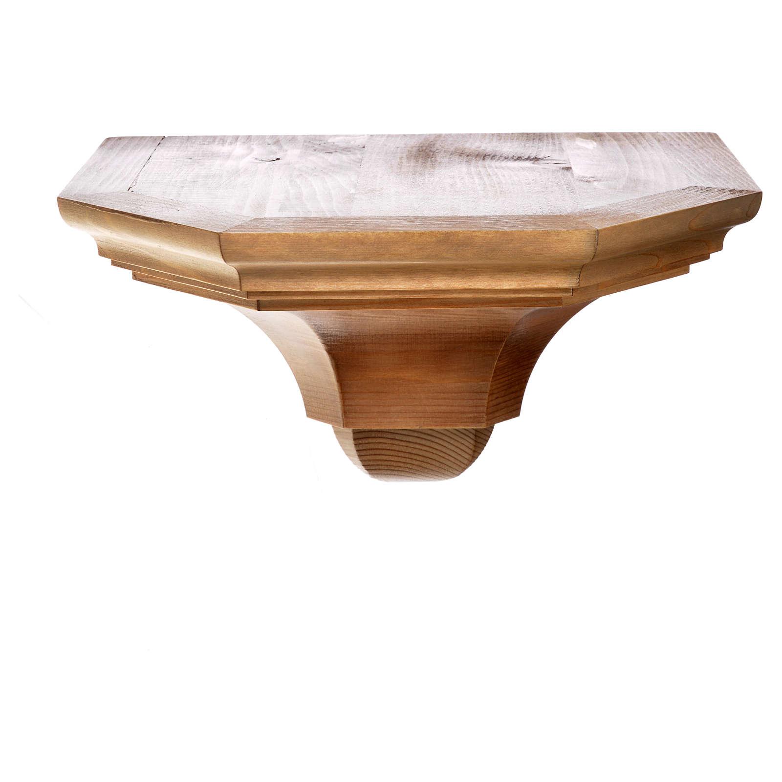 Ménsula pared gótica de madera varias patinaduras 22x27cm 4