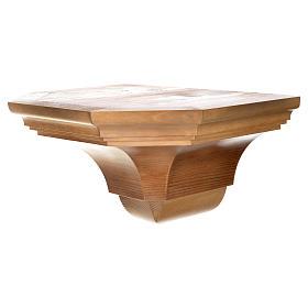 Ménsula pared gótica de madera varias patinaduras 22x27cm s7