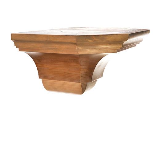Ménsula pared gótica de madera varias patinaduras 22x27cm 8