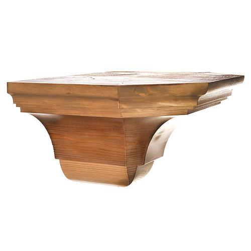 Ménsula pared gótica de madera varias patinaduras 22x27cm 3