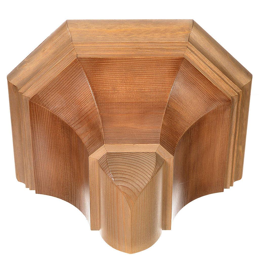Prateleira parede gótica 22x27 cm madeira pátina múltipla 4