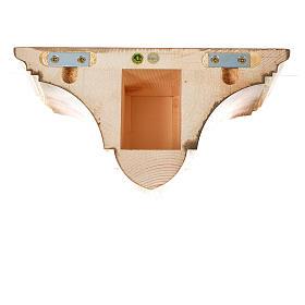 Prateleira parede gótica 22x27 cm madeira pátina múltipla s10