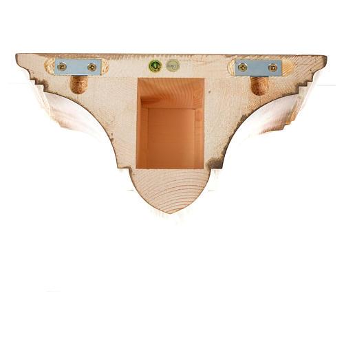 Prateleira parede gótica 22x27 cm madeira pátina múltipla 10