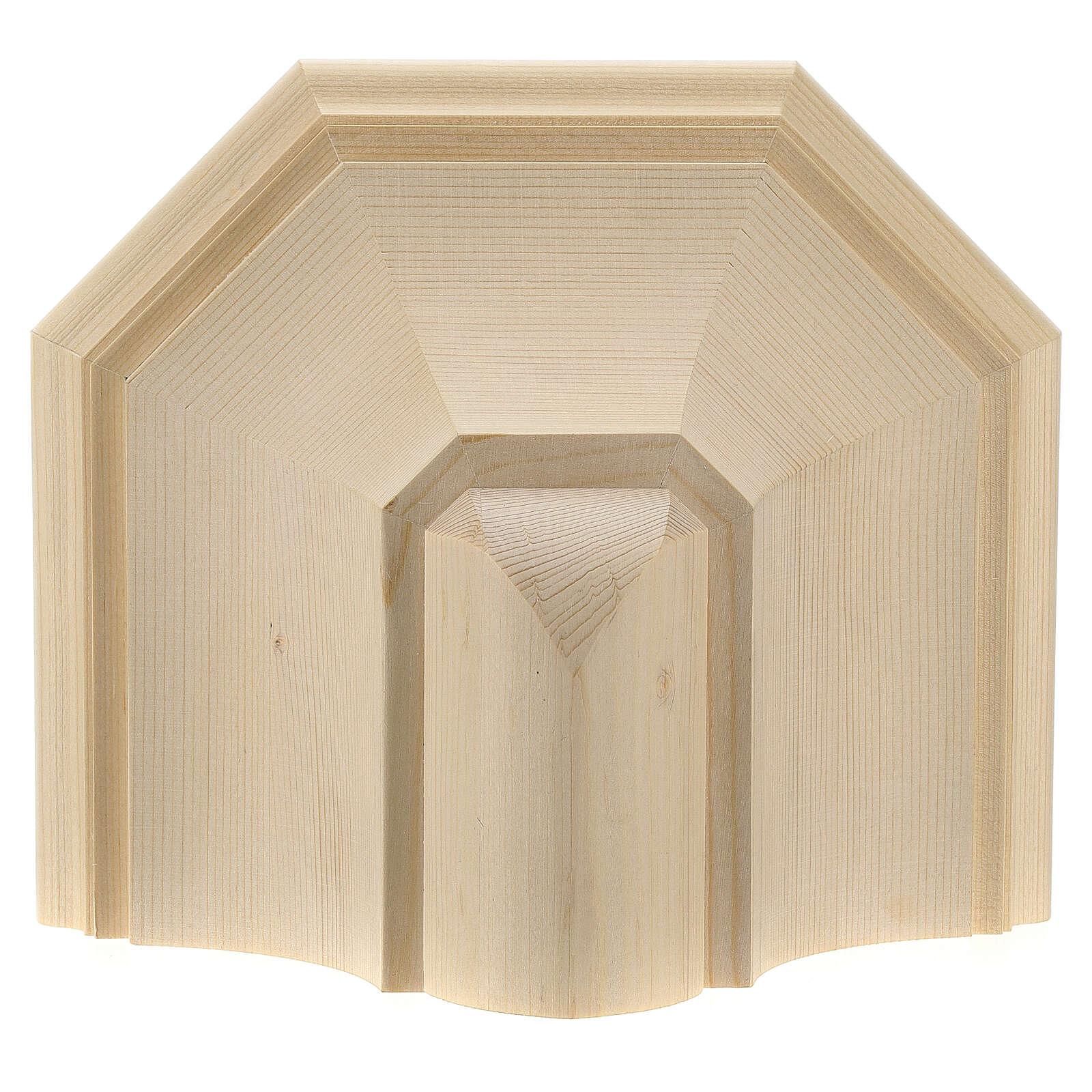 Wall shelf, gothic 22x27 in natural wax Valgardena wood 4