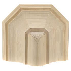 Wall shelf, gothic 22x27 in natural wax Valgardena wood s2