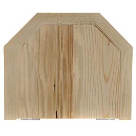 Wall shelf, gothic 22x27 in natural wax Valgardena wood s3