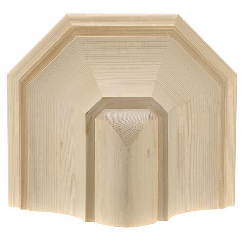 Wall shelf, gothic 22x27 in natural wax Valgardena wood 2