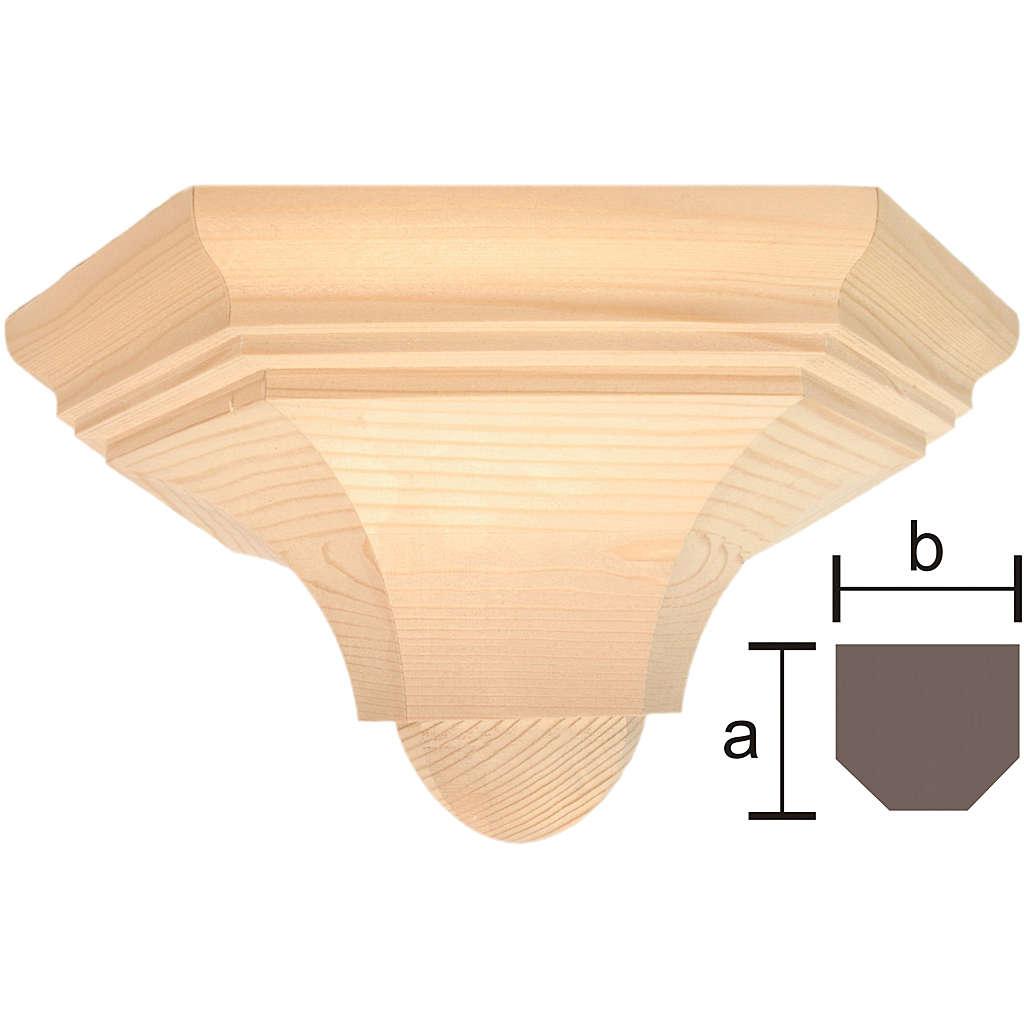 Ménsula pared gótica de madera encerada 22x27cm 4