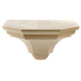 Mensola parete gotica 22x27 legno naturale cerato s1