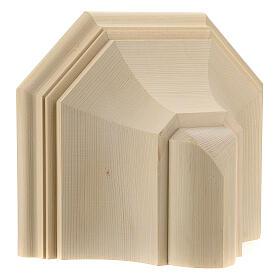 Mensola parete gotica 22x27 legno naturale cerato s4