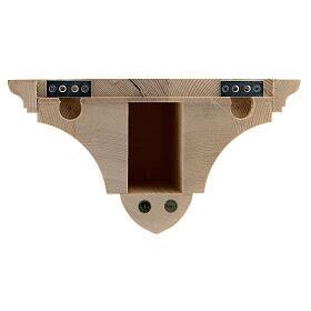 Mensola parete gotica 22x27 legno naturale cerato s6