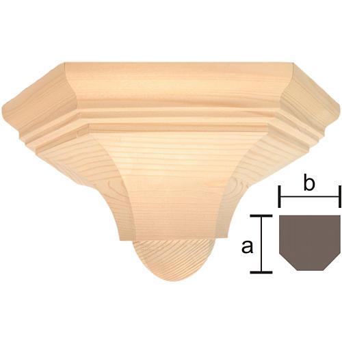 Mensola parete gotica 22x27 legno naturale cerato 1